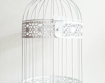 Bird Cage Hanging Planter (White)