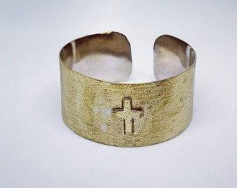 Bronze bangle, Bangle, Cuff bracelet, Cuff, Bracelet, Bronze jewelry, Handmade jewelry, Ethnic Boho jewelry, Cross cuff bracelet!