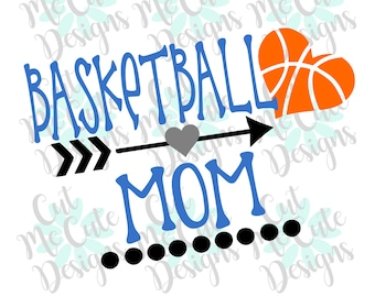 SVG DXF PNG cut file cricut silhouette cameo scrapbooking Basketball Mom