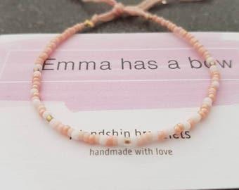 "Morse code bracelet ""pajamas all day"""