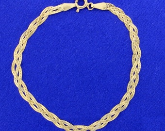 Italian Made Braided Bracelet