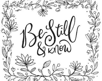 """Be Still 5""""x5"""" Art Print"""