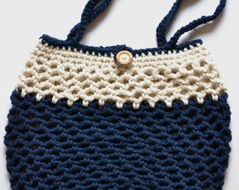 Crocheted cotton bags