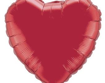 "Mylar Balloon Heart 18"""