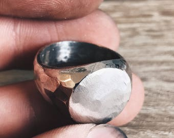 Simply Hammered - Handcrafted Sterling Silver Ring