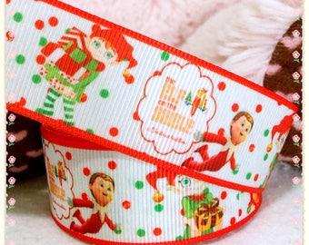 3 yards Elf on the shelf ribbon, Elf ribbon, Christmas ribbon, holiday ribbon, Elf Christmas ribbon, Christmas hair bow ribbon, gift ribbon