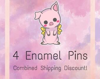 4 Enamel Pins - Multibuy Deal! | Enamel Pin | Enamel Pins | Weird Pin | Cute Enamel Pin | Geeky Lapel Pin | Nerdy Brooch | Geek Enamel Pin |
