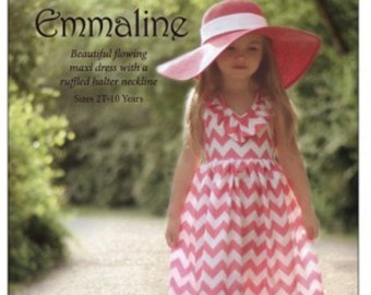 Dress Pattern for Little Girl - Emmaline Pattern.  Free shipping!
