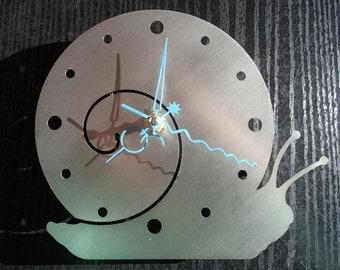 Wall clock screw stainless steel Mural art watch design wall clock wallclock snail