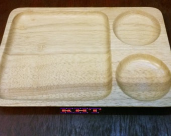 Thai Tembusu Tree Wood Handmade Dish Platter 4 Designs