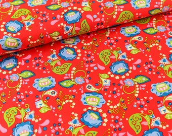 Cotton Mirabelle by Rebekah Ginda red (11,50 EUR / meter)