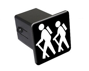 """Hiking - Hikers - 2"""" Tow Trailer Hitch Cover Plug Insert Truck Pickup R.v."""
