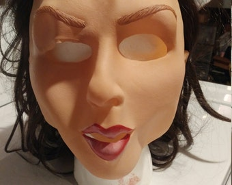 young woman realistic mask
