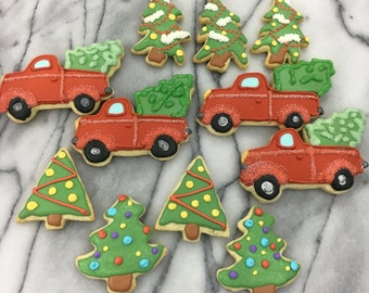 Christmas Trees and Truck Cookies
