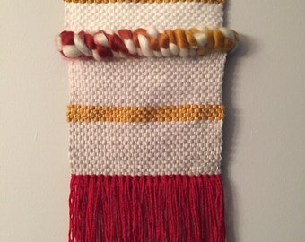 Red - mustard weave
