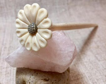 Exclusive Hair Pin Hand carved of ox bone Hair Accessorise