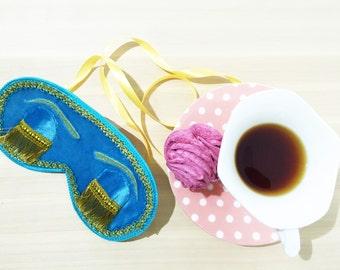 Perfect Audrey Hepburn Sleep Mask, Breakfast at Tiffanys Eye Mask, Holly Golightly Sleep Mask, Handmade Night Mask with Embroidery