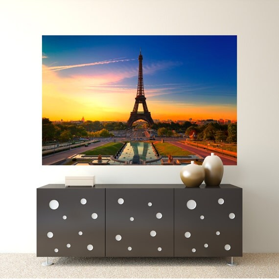 Eiffel Tower Wall Graphic by TwoOfUsDecalDesigns