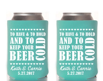 To Have and To Hold Can Coolers,Can Coolers,Wedding,Weddings,Favors,wedding favors,wedding coolers,wedding can coolers,drink,beer,cold,fun