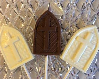 Church Windows Chocolate Lollipops