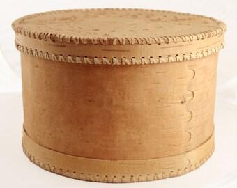Large round birch bark Bread Bin »Lena«