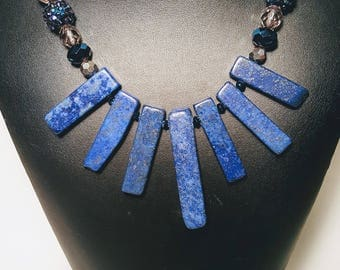 Blue Queen Necklace and Earring Set