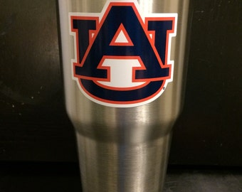 Auburn Tigers Ozark Trail 20 OZ & 30 OZ Tumbler cup mug glass NEW game day ready Now in White