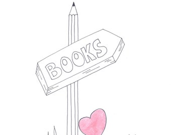 Books lovers, digital art, printable poster, home decor, printable cards, decoration , gift,