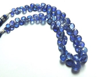 Very Charming Deep Colour Heart Shape Beads of Tanzanite 8' Long 100ct.