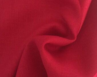 Linen fabric, uni, johanisbeerrot 7212