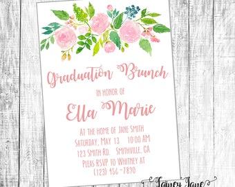Graduation Brunch Invitation, Graduation Party Invitation, Customized Party Invitation, Customized Invitation, Grad Party Invitation