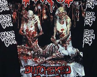 Classic Cannibal Corpse - Butchered at birth  longsleeve shirt -  S to XL available- .  Death,Massacre,Carcass,Terrorizer,Entombed.