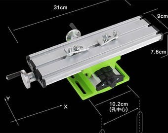 Mini Milling Machine Bench Drill Vise Fixture Worktable Adjustment Coordinate Table For Mini Lathe
