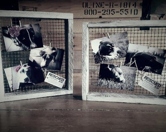 Wire and Wood Photo Display>> by RESCUEDrustics