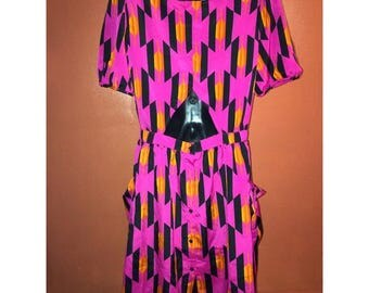 Multicolored 80's style Dress