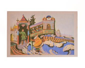 Lot 1, Quantity 16 Vintage Postcards Set USSR Collection Pushkin Illustrations To Works 1973