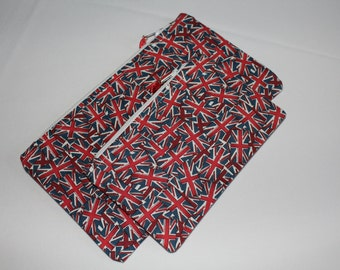 Union Jack England Zipped Pouch Set