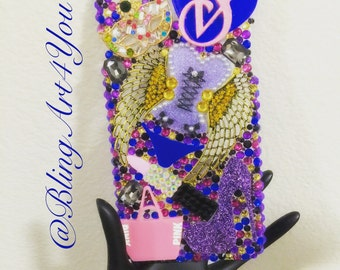 Pink and Purple VS Case Cover - Iphone - Samsung