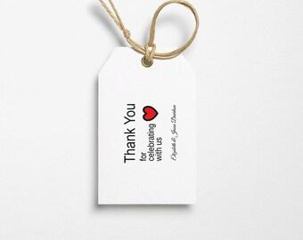 Thank You Template - Thank You Tag - Wedding Favor Tag - Text Editable Tags - Thank You PDF - Editable Template