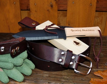 Hori Hori Combination Package - Hori Hori Knife, Hori Hori Sheath, Glove Keeper, Gardening Belt