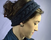 Headband, Knitted Ear Warmer, Women's Accessories, Knit, Earwarmer, Winter Headband, Navy, Dark Blue