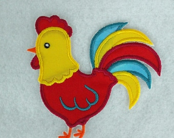 Rooster Patch, Rooster Applique, Embroidered Rooster, Farm Animal,  Iron On Patch, Applique Patch, Embroidered Patch, Sew On Patch, Fabric