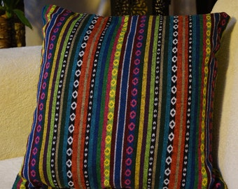Mexico series 2: cushion 40x40cm (16 x 16), striped Mexican patterns.