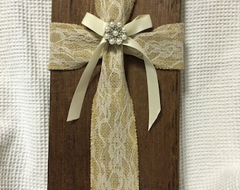 Fabric Cross Wood Chunk #3