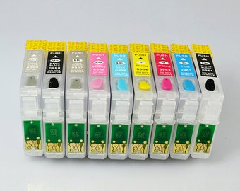 Empty Refillable Cartridge Set for use in EPSON Stylus Photo R2880 printers (T0961 T0962 T0963 T0964 T0965 T0966 T0967 T0968 T0969) #96 inks