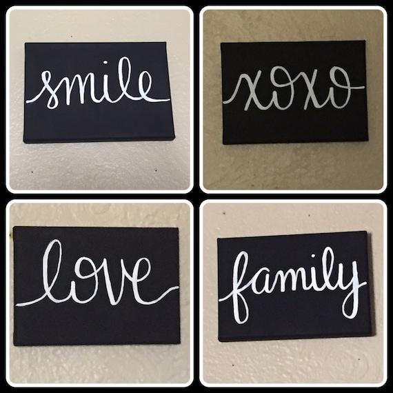 Love Smile Xoxo Family Inspirational Home Decor Wall