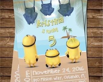 Minion Birthday Invitation, Minion Birthday, Minion Invite