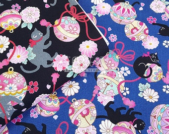 Cosmo 100%cotton Japanese cat fabric