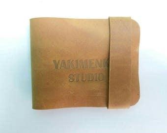 Minimalist wallet, slim bifold wallet, leather wallet, leather bifold wallet
