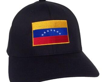 Venezuela Embroidery Flag on a Flexfit - Cotton Blend Cap